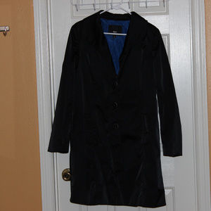 Mossimo 🧥 trench coat black with blue lining